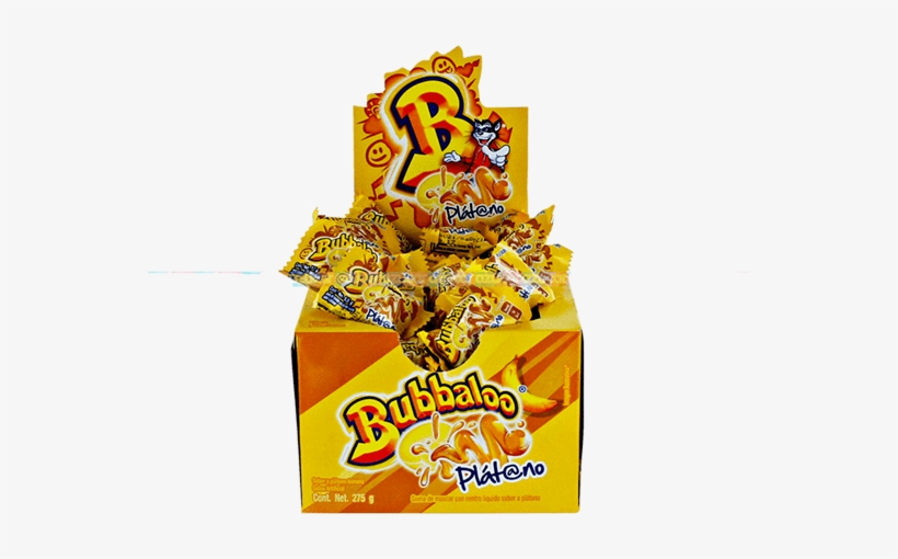 Home / / Adams / - Bubbaloo Mexican Bubble Gum, Banana, 50 Pieces, transparent png #4045759