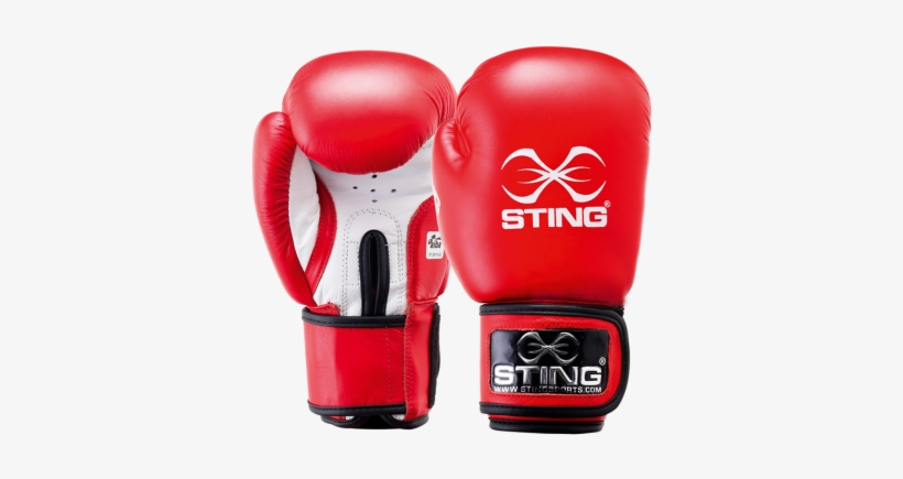 Sting Aiba Approved Competition Leather Boxing Gloves - Sting Competition Boxing Gloves, transparent png #4048312