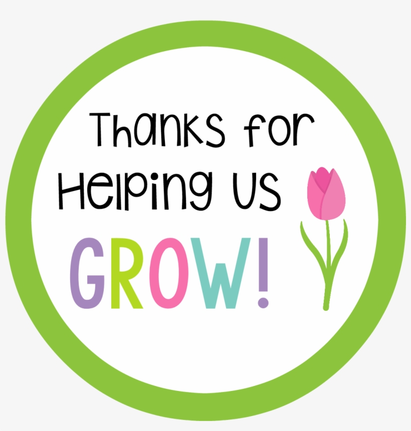 Thanks For Helping Us Grow Teacher Appreciation Tag Gift Free