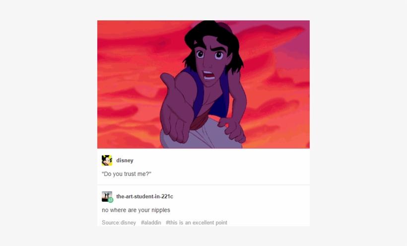 Do You Trust Me, No Where Are Your Nipples - Aladdin Do You Trust Me No, transparent png #4050960