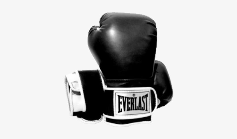 Everlast Boxing Gloves Psd - Black And White Everlast Boxing Gloves, transparent png #4056737