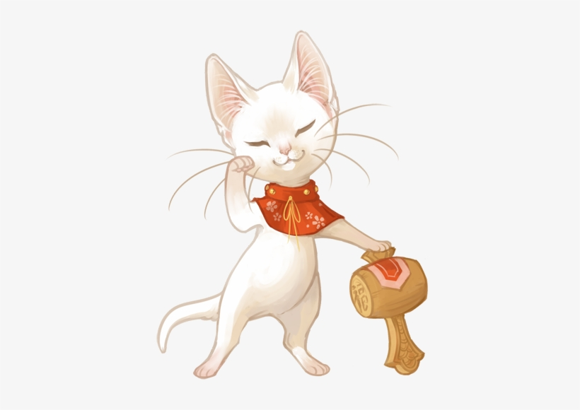 Japanese Lucky Cats From Mewitti Cat, Japanese, Lucky - Japanese Lucky Cat Art, transparent png #4059611