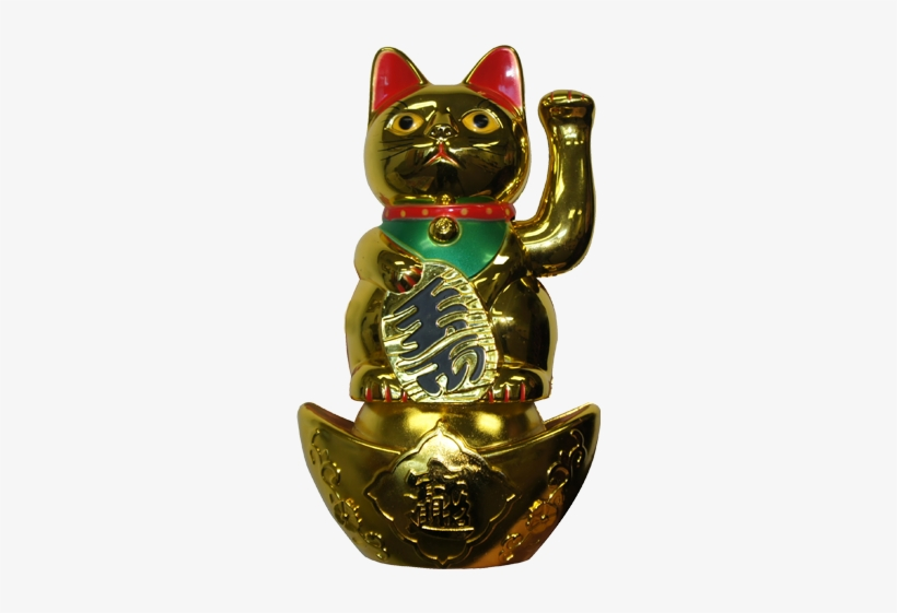 Maneki Neko Lucky Cat With Base - Domestic Short-haired Cat, transparent png #4060247