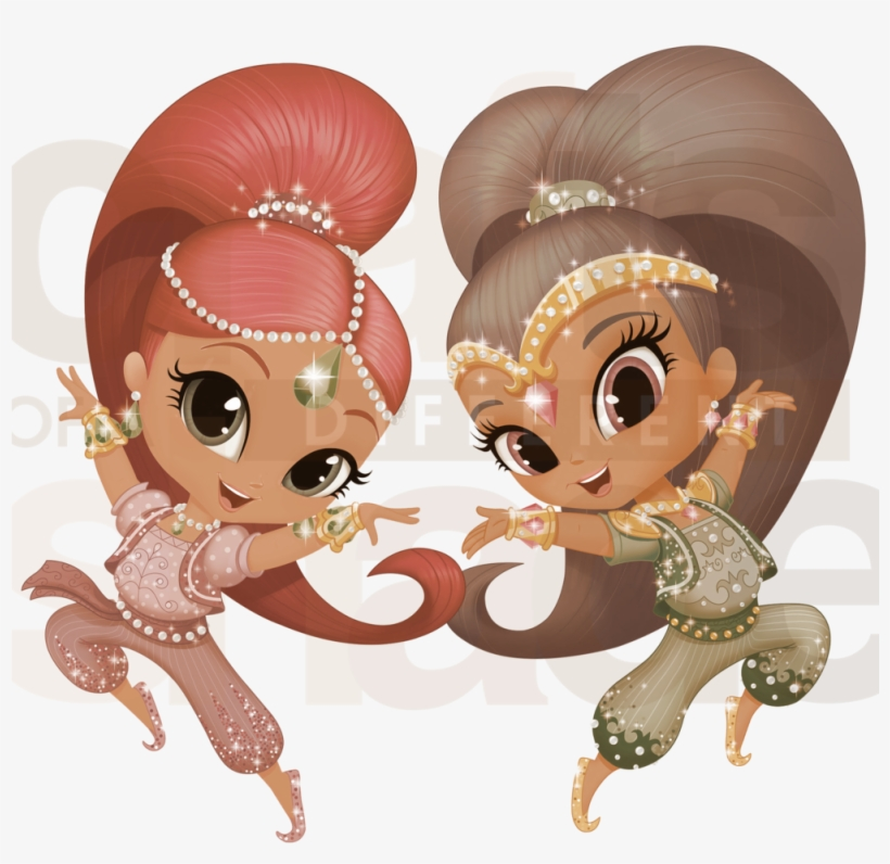 Brown Shimmer And Shine Clip Art - Shimmer And Shine Happy Birthday, transparent png #4063705