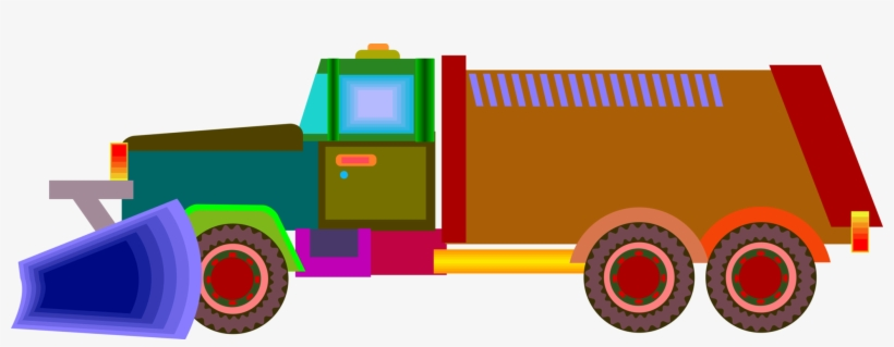 Vector Illustration Of Snow Plow And Snow Removal Equipment - Snow Removal, transparent png #4064857