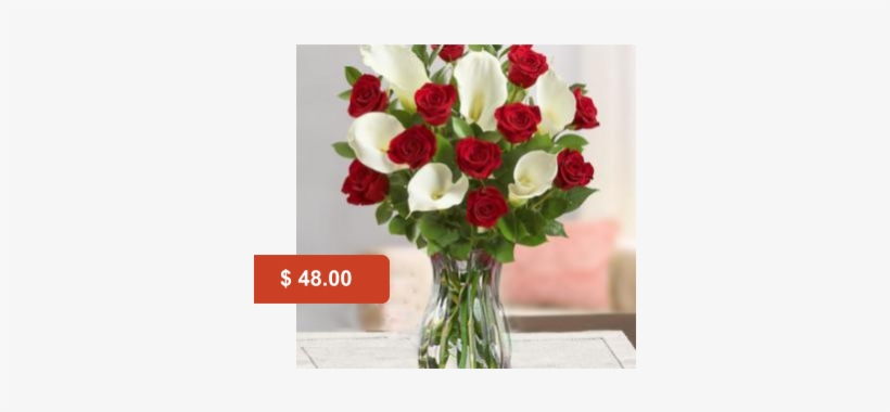 Calas Y Rosas - Flowers: Red Rose & Calla Lily Bouquet, transparent png #4064934