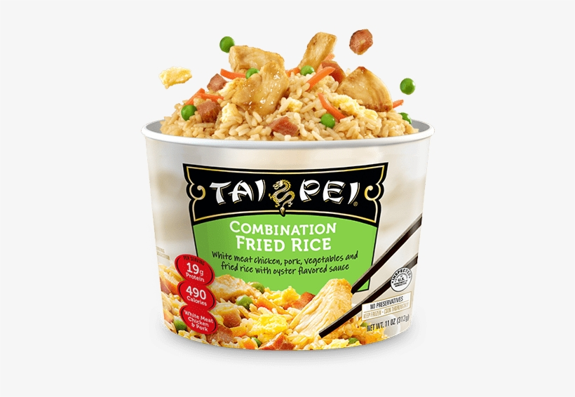 Combination Fried Rice - Microwavable Chicken Fried Rice, transparent png #4071485