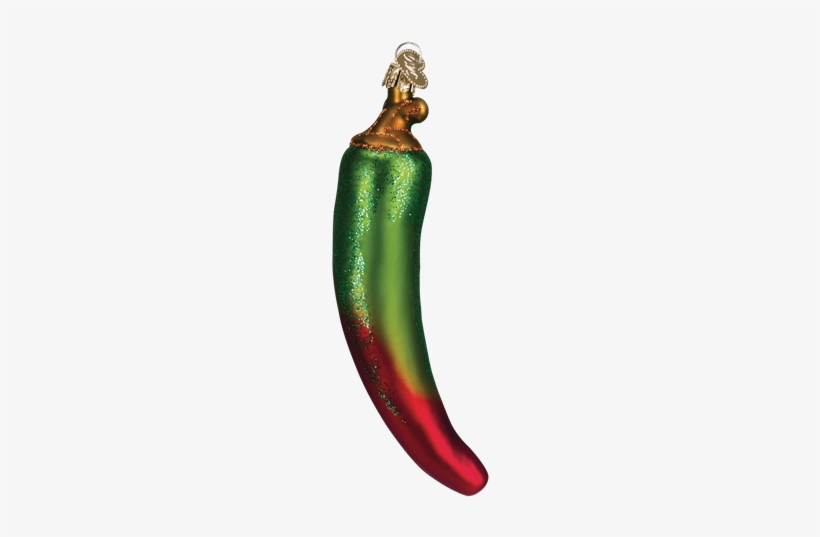 Red Green Chili Pepper Ornament Old World Christmas, transparent png #4072109