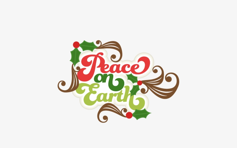Peace On Earth Title Svg Scrapbook Title Christmas - Peace On Earth Christmas Clipart, transparent png #4072239