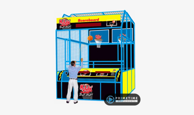 Nothin But Net Basketball Attraction By Skeeball Games - Full Size Basketball Arcade Game, transparent png #4072584