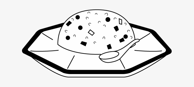 Fried Rice Cliparts Free Download Free On - Fried Rice Black And White, transparent png #4072884
