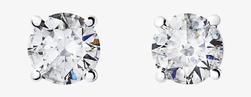 Diamond Stud Earring 4-prong Setting In White Gold - Renesim 1 Carat D Flawless Diamond Stud Earrings, transparent png #4073148
