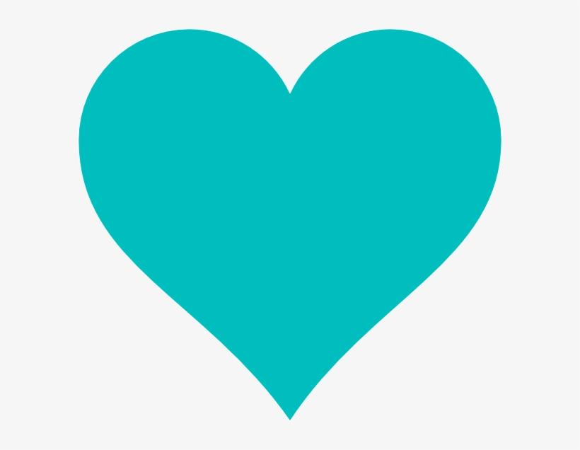 Blue Heart Clip Art At Clker - Teal Heart Clipart - Free ...