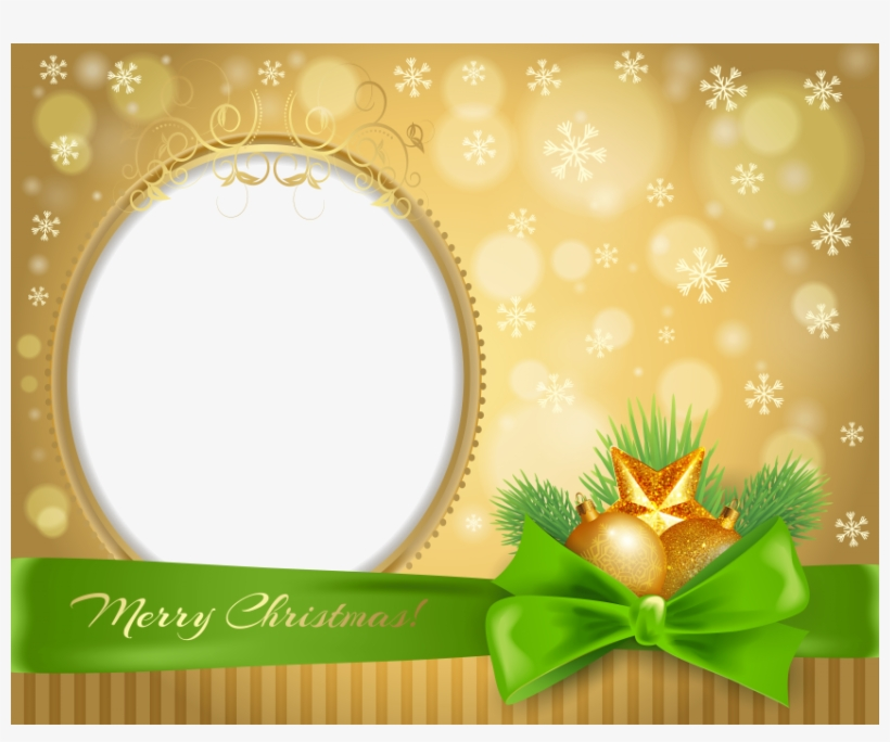 Christmas Border, Gold Christmas, Borders And Frames, - Green Christmas Transparent Frame Png, transparent png #4074854