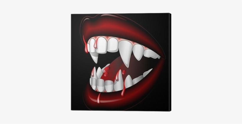 Halloween Vampire Mouth With Blood Bocca Di Vampiro - Vampiro Di Halloween, transparent png #4082709