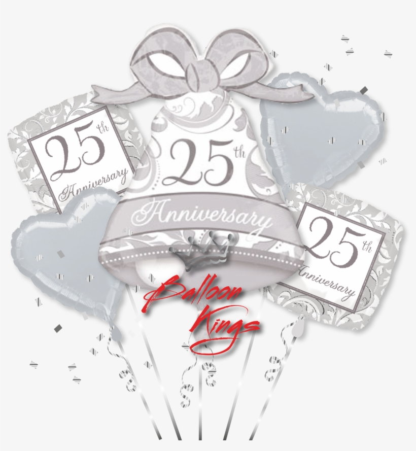 25th Anniversary Bouquet - 25th Anniversary Super Shaped Foil Balloon, transparent png #4083542