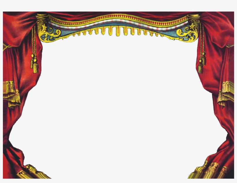 Stage Curtain Background - Giclee Print: Male Principal Wall Art : 16x20in, transparent png #4084284