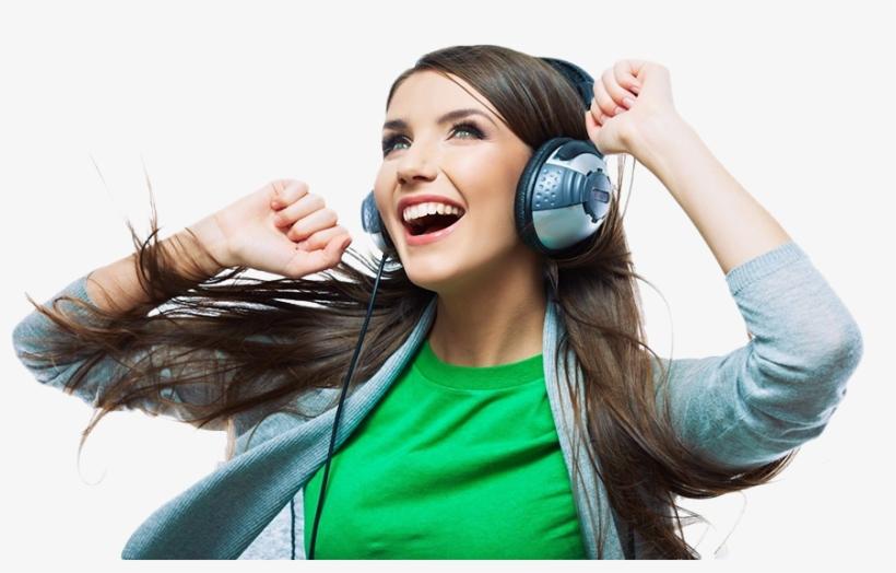 Slider Man 07 - Woman Listening To Music, transparent png #4086016