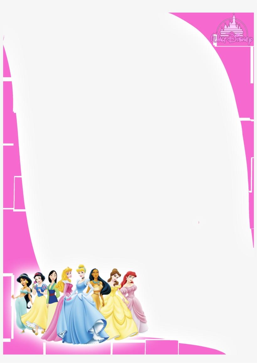 Moldura Princesas Disney Png 1st Bday Invitations Disney Princess