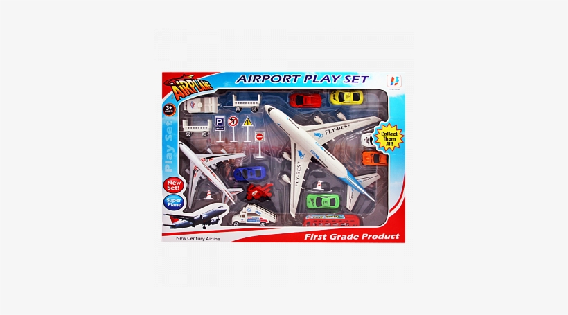 Buy Hong Sheng Airplane With Cars Airport Play Set - Wide-body Aircraft, transparent png #4093960