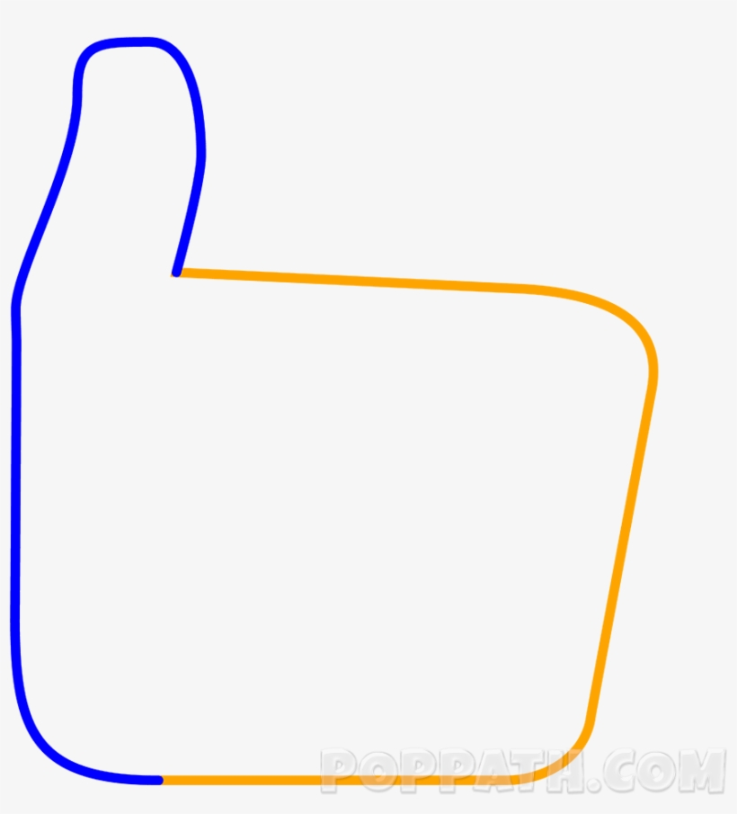 28 Collection Of Thumbs Up Emoji Drawing - Draw A Thumbs Up Emoji Step By Step, transparent png #4094339