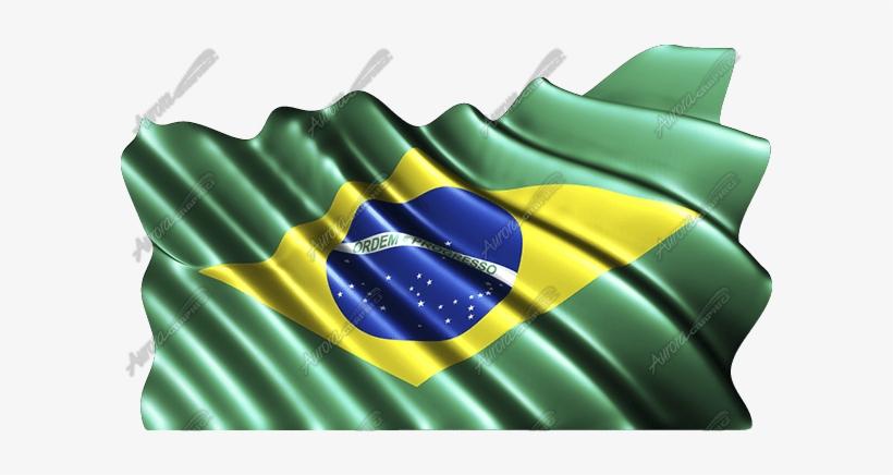 Waving Brazilian Flag - Puerto Rico Flag Waving, transparent png #4094882