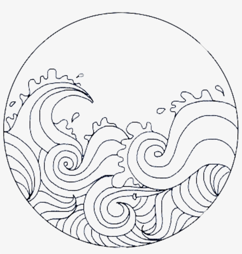 Cute Circle Overlay Remixit Waves Sea Frame Circleframe