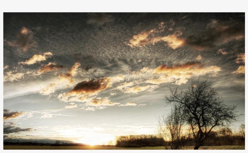 Keyring Clouds Sky Field Grass Tree Sun 6350, transparent png #4098521