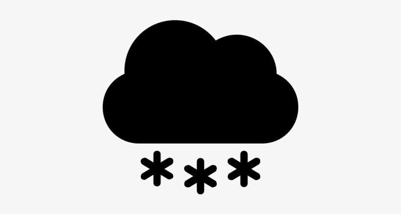 Snow Cloud Vector - Cloud Snow Icon Png, transparent png #410236