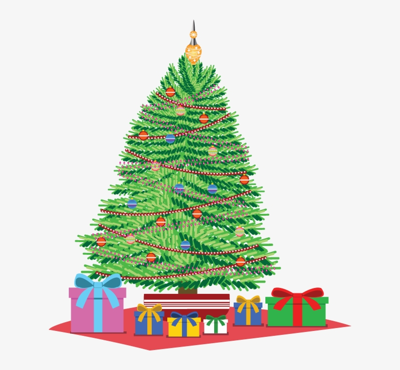 Christmas Tree With Presents Clipart, transparent png #411718