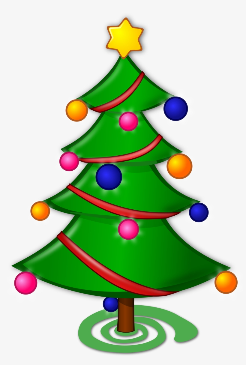 Christmas Tree Clip Art Microsoft Free Clipart - Merry Christmas Tree Drawing, transparent png #411720