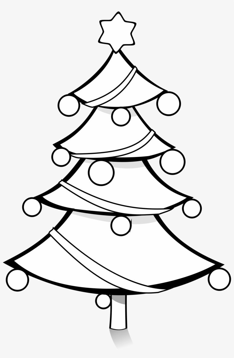 Christmas Tree Clip Art Black And White Christmas Tree Black And