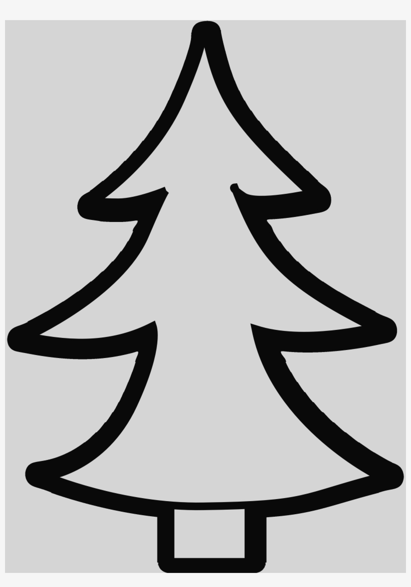 White Christmas Tree Png.Christmas Tree Clipart Black And White Christmas Trees