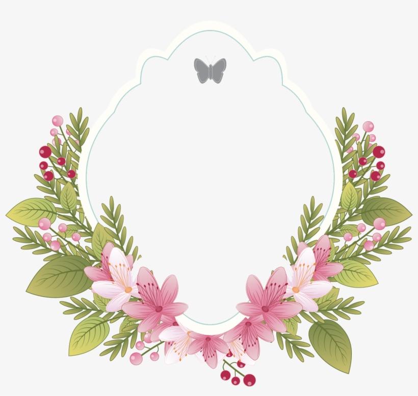 Flower Clothing Picture Wedding - Frame Vintage Flower Png, transparent png #412157