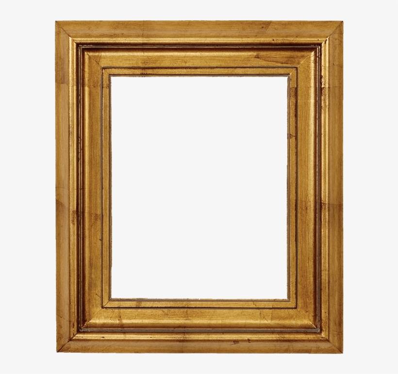 Wooden Gold Leaf Picture Frame - Picture Frame, transparent png #412350