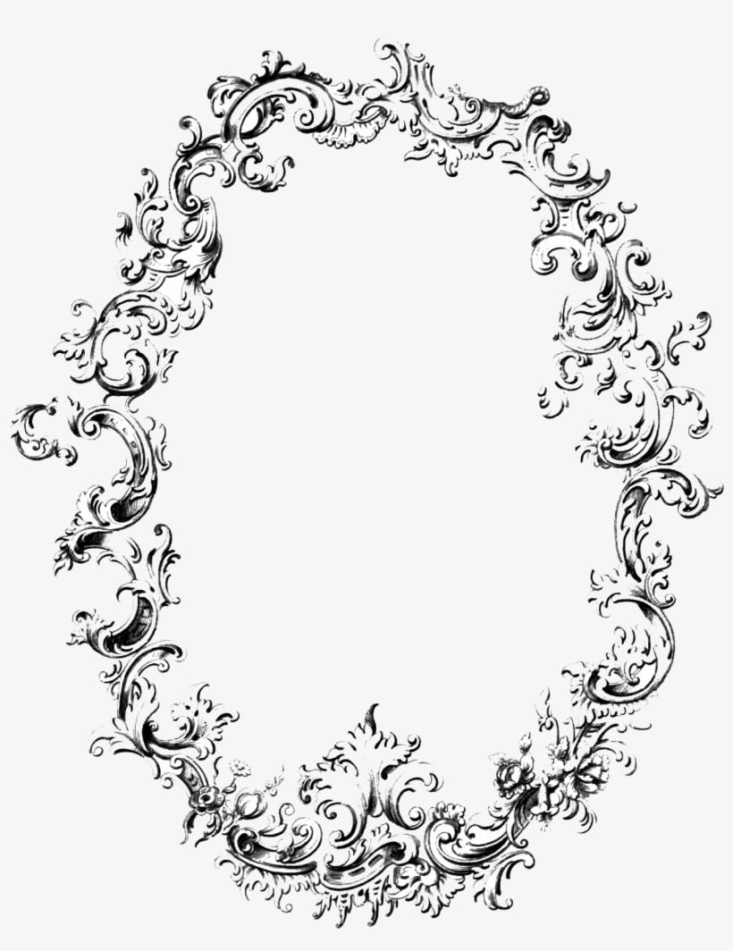 Vintage Frame Transparent Png - Vintage Oval Frame Png, transparent png #412774