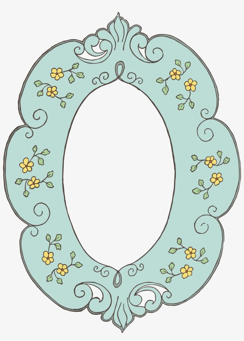 Free Vector Images - Vintage Frame Clipart Floral Png, transparent png #412913