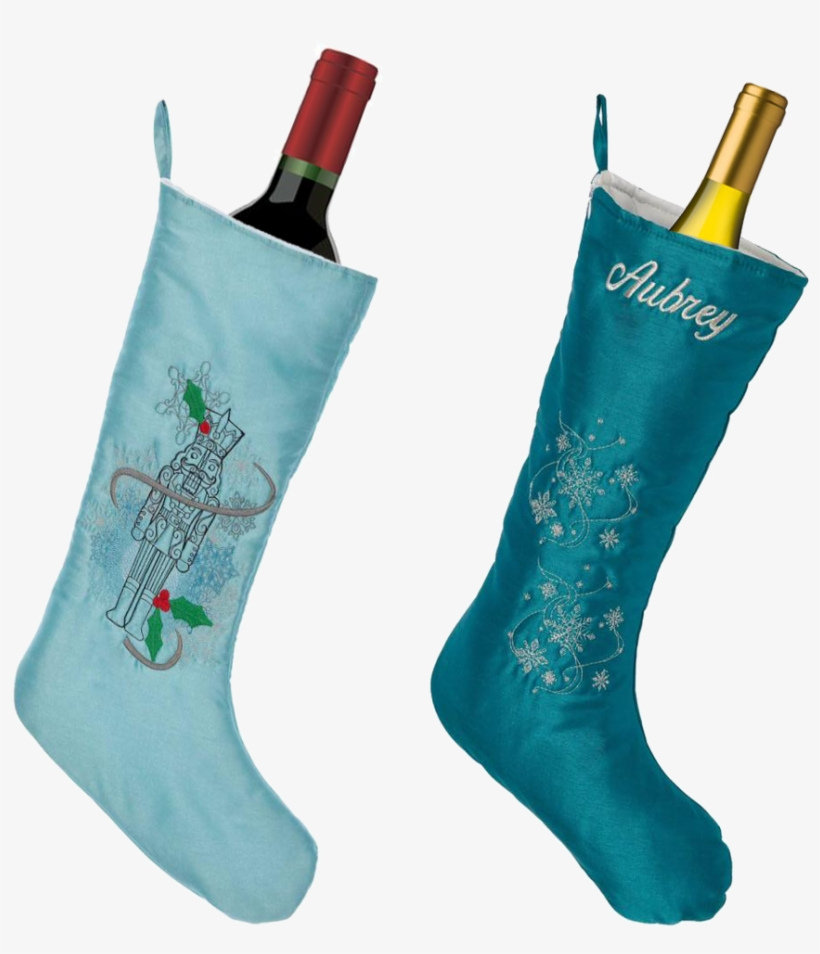 Embroider Buddy Stockings Make Great Wine Sleeves - Christmas Stocking, transparent png #413030