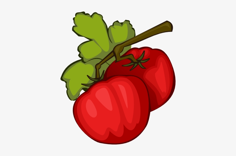Tomato Clipart Pepper Plant - Tomato Clip Art, transparent png #415290