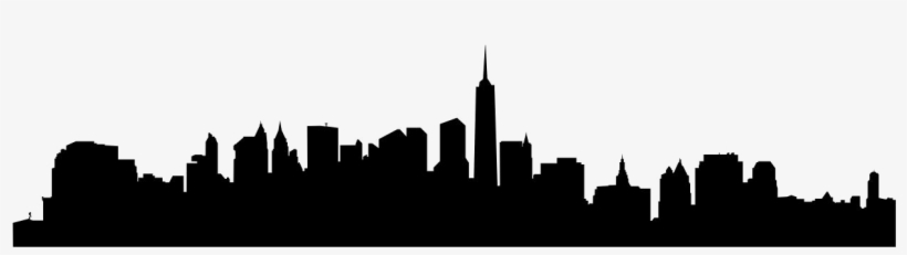 New York City - Transparent City Skyline Silhouette, transparent png #415435