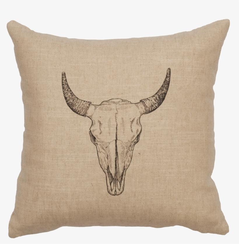 Bull Skull - Pillow 16x16-bull Skull- Natural, Throw Pillows,, transparent png #415825