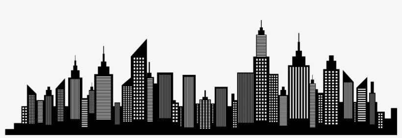 Wide X S Kb V Freedom Tower - Silhouette Of A City Skyline, transparent png #415863