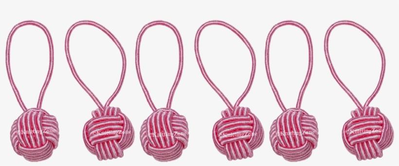 Hiyahiya Yarn Ball Stitch Markers Pink (6 Pack), transparent png #416798