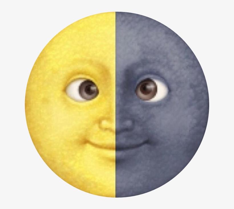 Moondaystickerremix Emoji Luna Tumblr Lunita Moon Png Luna Y Sol Emoji Free Transparent Png Download Pngkey