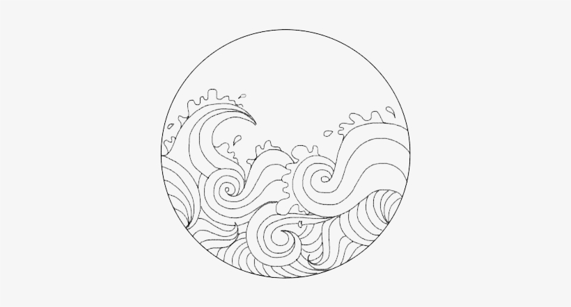 Banner Vector Black And White Png Waves Tumblr Drawing Free