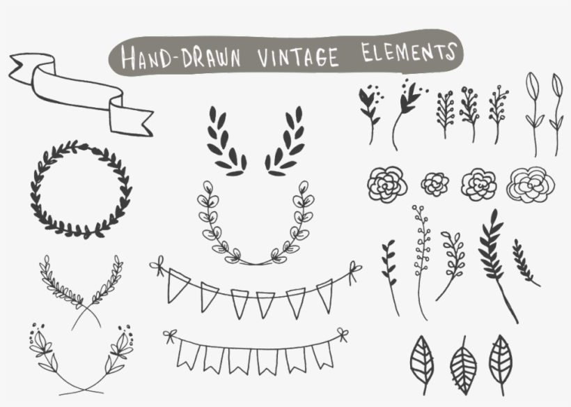 This Graphics Is Hand Drawn Doodle Vintage Vector Elements
