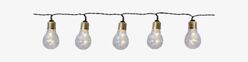 Light Chain Glow - Five-bulb Led String Lights Glow Battery, transparent png #4101902