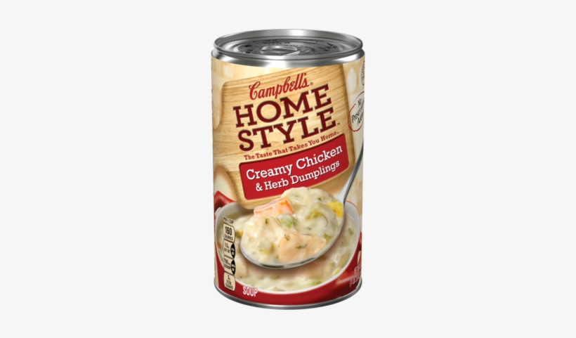 Creamy Chicken & Herb Dumplings Soup - Campbell's Homestyle Chicken Noodle Soup, transparent png #4103498