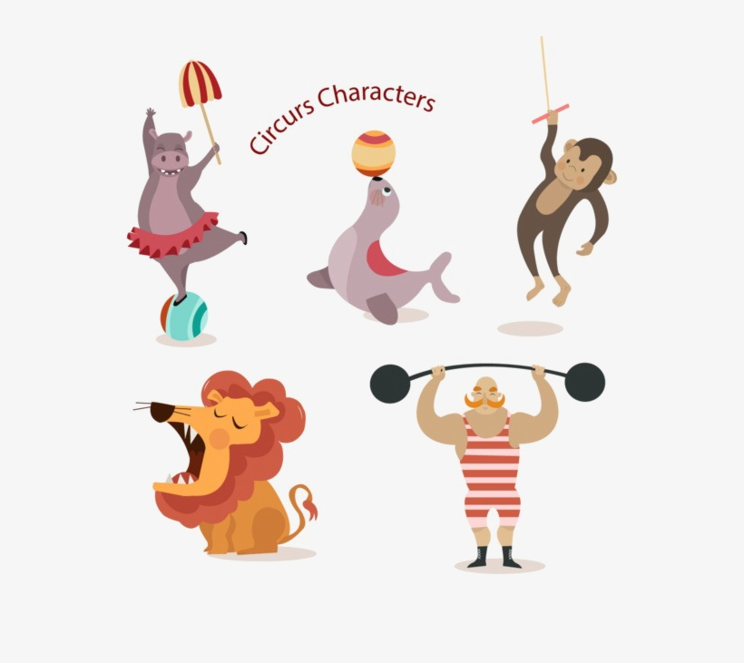 Circus Animals Png Photo - Animales De Circo Png, transparent png #4107138