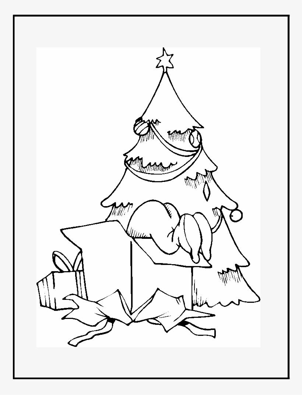 Arbol De Navidad Con Regalos Para Colorear Y Dibujar - Coloring Book, transparent png #4109757